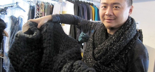 Texture and sculpture dominated Ku's Gold Label Fall 2014 collection. The designer talked to Meniscus in Tokyo about his inspiration.