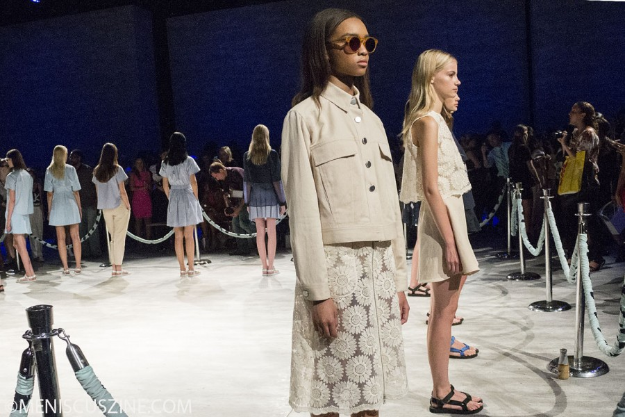 Shades and light colors in the Charlotte Ronson Spring 2015 collection/ (photo by Shelly Xu / Meniscus Magazine)