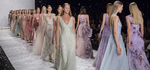 Photos from the Monique Lhuillier Spring 2015 runway show, which took place at Lincoln Center.