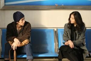 """Haruma Miura (left) and Cecilia Liu Shishi in """"Five Minutes to Tomorrow."""" (photo courtesy of the Busan International Film Festival)"""