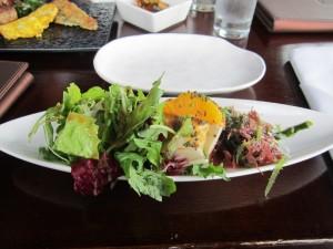 Tofu salad, with silken tofu, orange, mixed seaweed salad, and plum vinaigrette, from Gaonnuri. (Photo by Christopher Bourne)