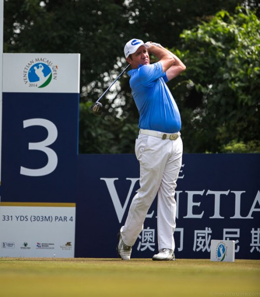 After winning the Hong Kong Open on the European Tour, Scott Hend had a chance to notch consecutive victories with a Venetian Macau Open title on the Asian Tour.  His bogey on the final hole sealed the victory for Anirban Lahiri. (photo by Christiaan Hart / Meniscus Magazine)