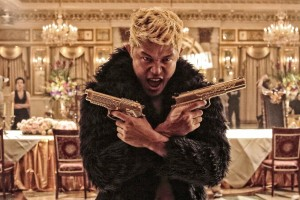 "Ryohei Suzuki as Mera out for blood in ""Tokyo Tribe."" (photo courtesy of the Busan International Film Festival)"