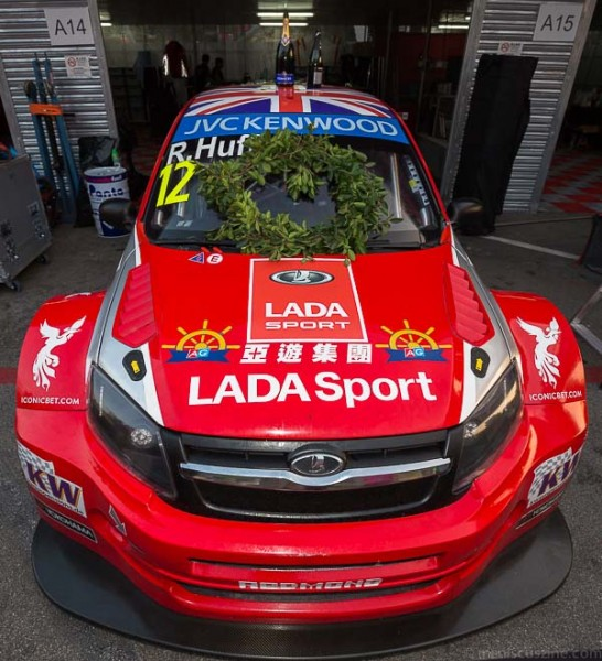 Robert Huff, who races for LADA Sport Lukoil, finished just 0.344 seconds ahead of the runner-up, Yvan Muller. (photo by Christiaan Hart / Meniscus Magazine)