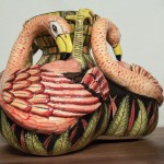 Ardmore _ Flamingo Bulb Vases