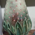 Chris Garofalo _ _Stomata Melongene_ sculpture in glazed porcelain