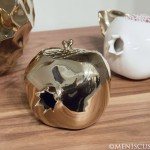 David Wiseman _ Unique Pomegranate Box in polished bronze