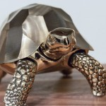 David Wiseman _ Unique Turtle box in polished bronze