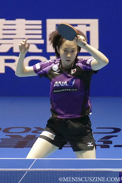The bubbly Kasumi Ishikawa, 21, overpowered her opponent Hyowon Seo to win the US$100,000 grand prize at the ITTF World Tour Grand Finals. (photo by Yuan-Kwan Chan / Meniscus Magazine)