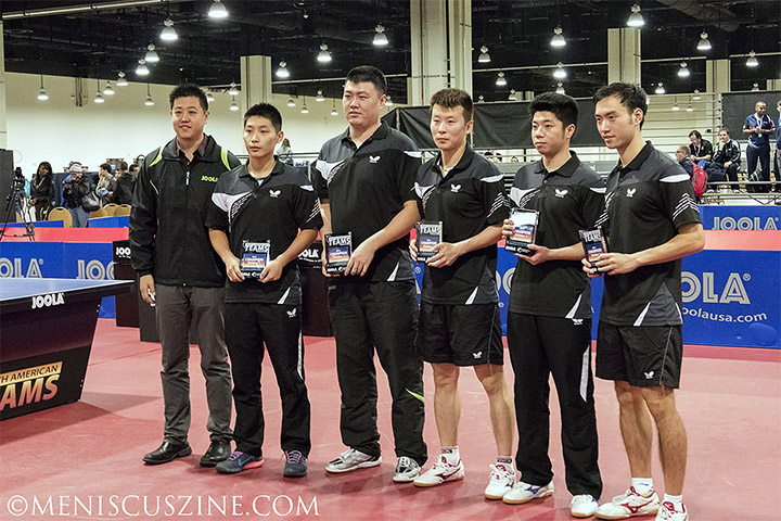 The Atlanta International Table Tennis Academy won the top division of the 2014 North American Teams Championships in National Harbor, Md. (photo by Kwai Chan / Meniscus Magazine)