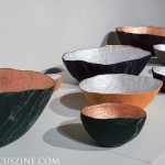 Ronel Jordaan _ Sculptural bowls in metallic felt