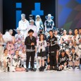 At Hong Kong Fashion Week, singer Alfred Hui (許廷鏗) promoted the popular i.t label izzue alongside colleagues Jay Fung (馮允謙) and Mag Lam (林欣彤).