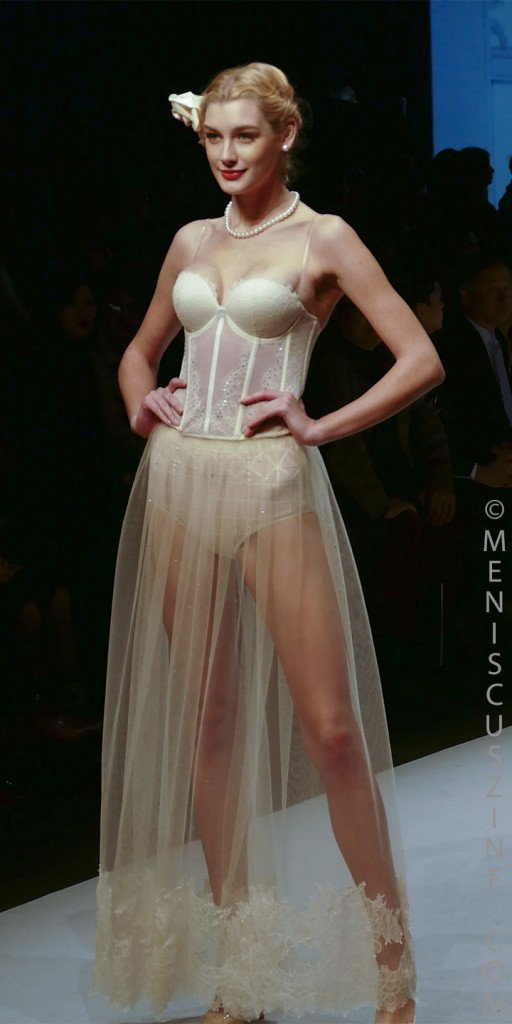 "From the ""White Chapel"" capsule lingerie collection designed by Jaymee Lee at Hong Kong Fashion Week. (photo by Yuan-Kwan Chan / Meniscus Magazine)"