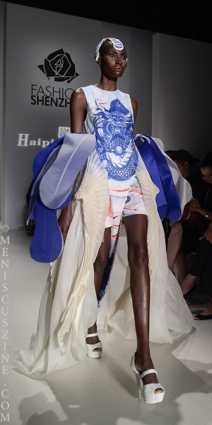 Organza and pleats by Haiping Xie. (photo by Angela K. Hom / Meniscus Magazine)