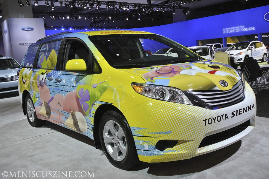 The 2015 Washington Auto Show took place from Jan. 23-Feb. 1. More than 700 new vehicles representing 42 manufacturers were on display, including this SpongeBob SquarePants decorated Toyota Sienna. (photo by Mai D. Chan / Meniscus Magazine)