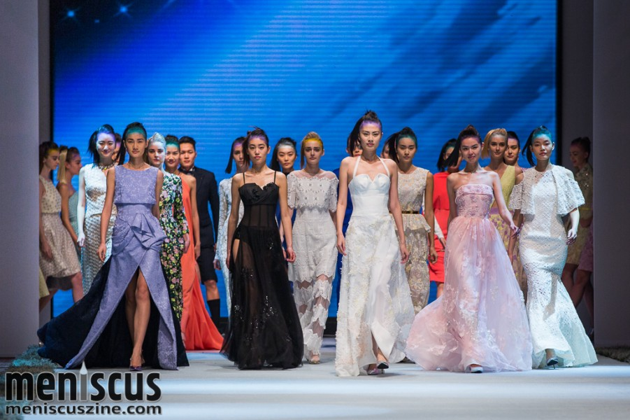 The Moiselle Spring 2015 womenswear collection, presented at Hong Kong Fashion Week. (photo by Tom Platt / Meniscus Magazine)