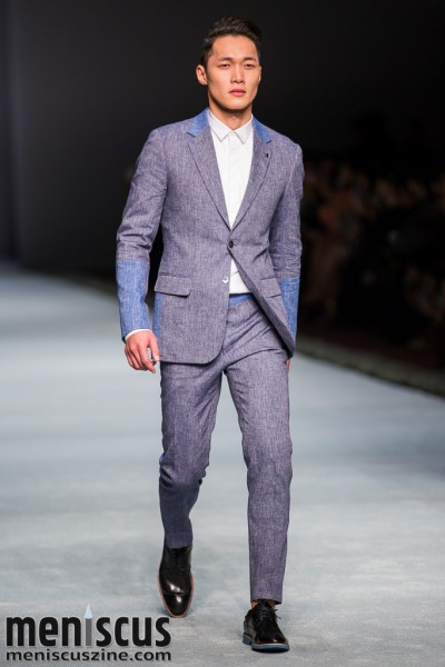 An outfit from the Moiselle Spring 2015 menswear collection. (photo by Tom Platt / Meniscus Magazine)