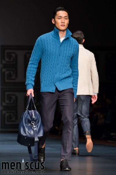 The Shanghai Tang Fall 2015 menswear collection, presented at Hong Kong Fashion Week. (photo by Tom Platt / Meniscus Magazine)