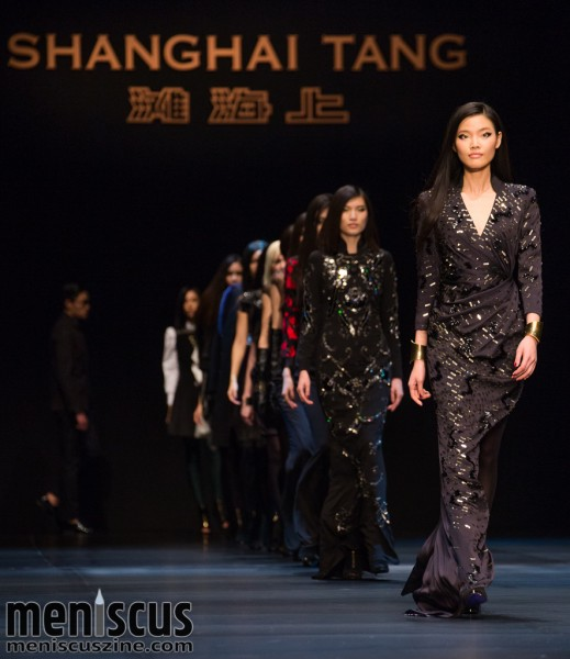 The Shanghai Tang Fall 2015 womenswear collection, presented at Hong Kong Fashion Week. (photo by Tom Platt / Meniscus Magazine)
