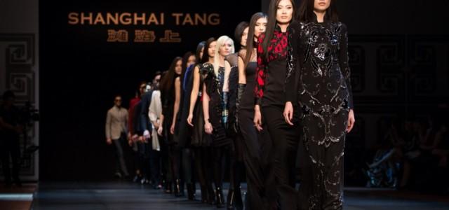 Photos from the womenswear portion of the Shanghai Tang Fall 2015 runway show at Hong Kong Fashion Week.