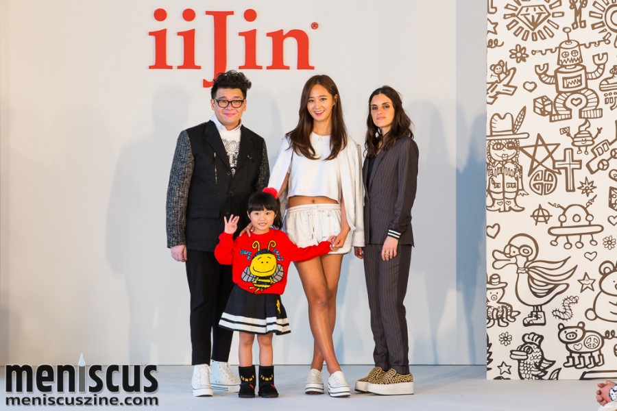 (left to right) Pop artist Cassian Lau; child model Celine Yeung; Yuri Kwon of Girls Generation; and iiJin Creative Director Christina Minasian. (photo by Tom Platt / Meniscus Magazine)