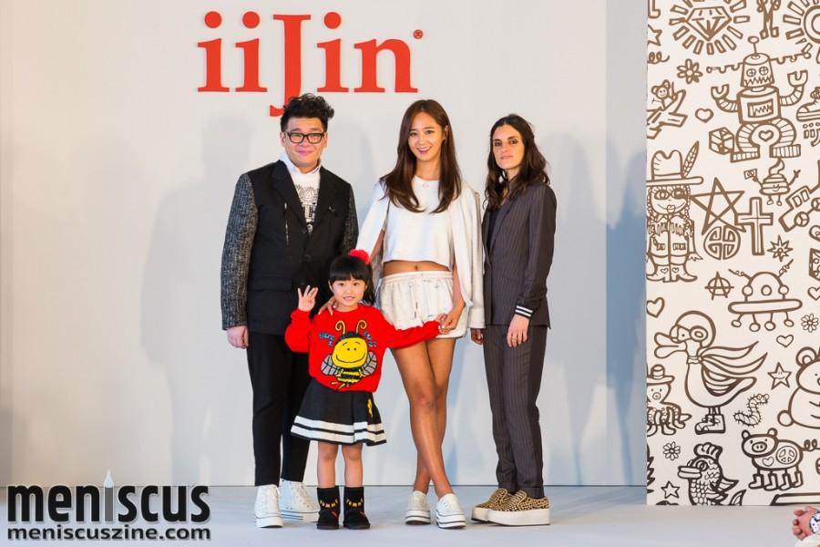 (left to right) Pop artist Cassian Lau; child model Celine Yeung; Yuri Kwon of Girls Generation; and iiJin Creative Director Christina Minasian. (photo by Tom Platt / Meniscus Magazine)