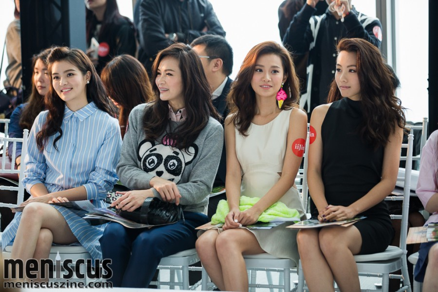 (left to right) Actress Janelle Sing; model Janet Ma (and mother of Kayla Wong); actress Miki Yeung; and Stephy Tang. (photo by Tom Platt / Meniscus Magazine)