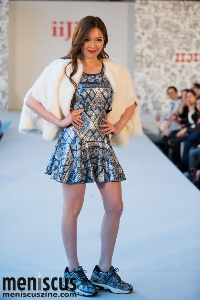 Adrian Wong models in the iiJin Fall 2015 runway show in Hong Kong. (photo by Tom Platt / Meniscus Magazine)