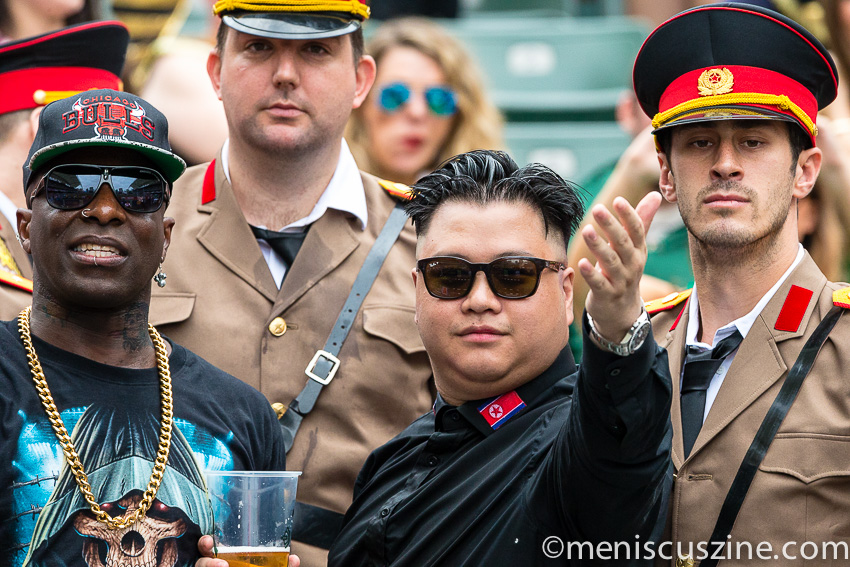 One fan who received a lot of attention over the weekend: this Kim Jong-un lookalike. (photo by Christiaan Hart / Meniscus Magazine)