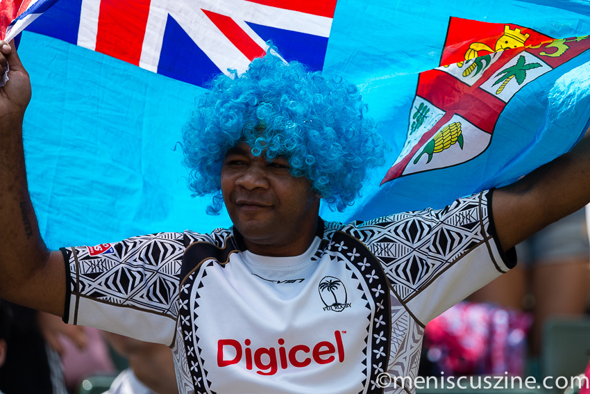 A fan of Fiji (who, by the way, won this year's Hong Kong Sevens over New Zealand, 33-19). (photo by Christiaan Hart / Meniscus Magazine)
