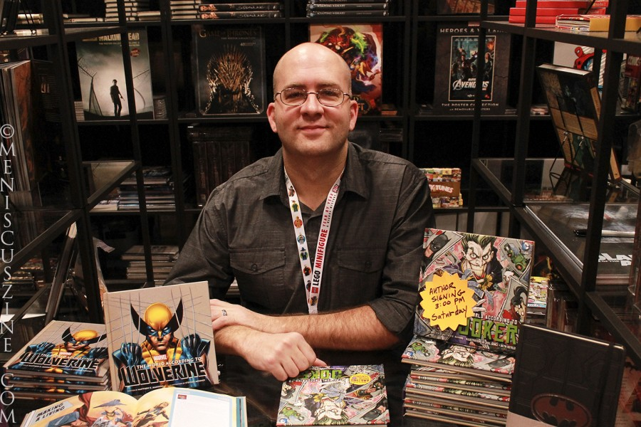 Writer Matthew K. Manning, who was at the 2014 New York Comic Con to sign copies of The World According to The Joker and The World According to Wolverine at the Insight Editions booth. (photo by Shelly Xu / Meniscus Magazine)