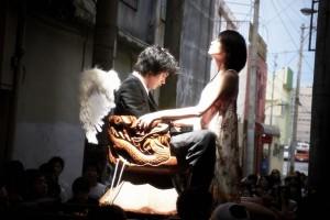 "Kenichi Matsuyama (left, as Chasuke) and Ito Ono (as Yuri) in ""Chasuke's Journey."" (still courtesy of the Hong Kong International Film Festival)"