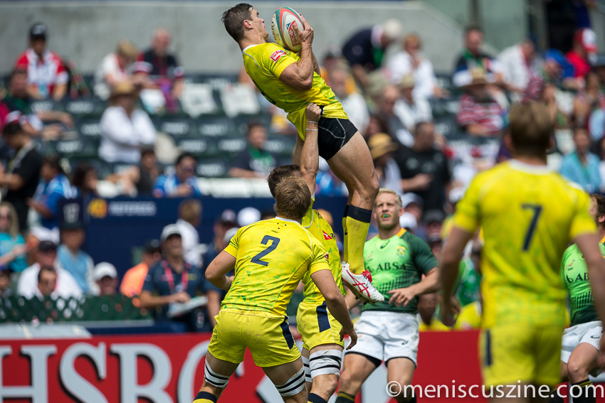 Australia during its 7-5 loss to South Africa at the Hong Kong Sevens 2015.  South Africa is one of four teams that have qualified for the 2016 Olympic Games in Brazil based on its overall ranking during the 2014-2015 HSBC Sevens World Series. (photo by Christiaan Hart / Meniscus Magazine)