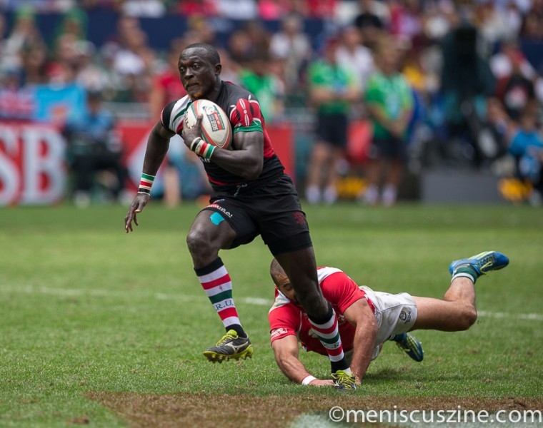 Kenya defeated Portugal in the Shield semifinals, 21-0. (photo by Christiaan Hart / Meniscus Magazine)
