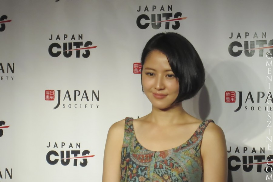 "Masami Nagasawa received the Rising Star Asia Award from the New York Asian Film Festival, which co-presented the U.S. premiere of ""Love Strikes!"" with the Japan Cuts film festival on July 14, 2012. (photo by Wade-Hahn Chan / Meniscus Magazine)"