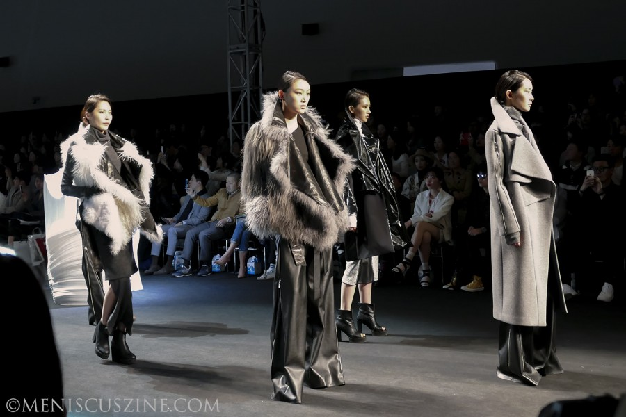 The NOHKE Fall 2015 collection featured a number of materials, including cotton, leather and wool. (photo by Yuan-Kwan Chan / Meniscus Magazine)