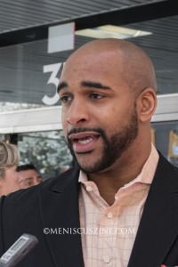 David Tyree on the red carpet at the 2015 Tribeca Film Festival on Apr. 19. (photo by Yuan-Kwan Chan / Meniscus Magazine)