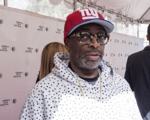 "Spike Lee on the red carpet prior to the world premiere of his documentary, ""The Greatest Catch Ever."" (photo by Yuan-Kwan Chan / Meniscus Magazine)"