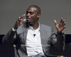 "Plaxico Burress during the Q&A session following the Tribeca screening of ""The Greatest Catch Ever."" (photo by Yuan-Kwan Chan / Meniscus Magazine)"