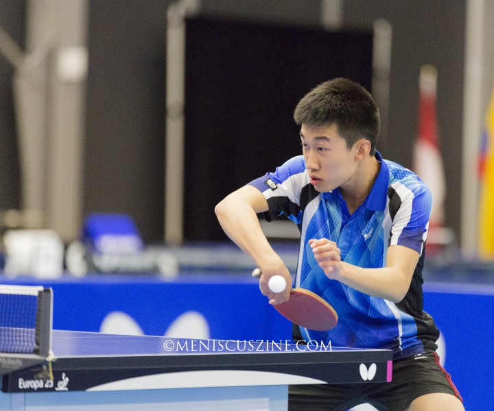 In his debut on the ITTF junior circuit, Zhang Kai won the 2015 Butterfly Canadian Junior & Cadet Open boys' singles title. (photo by Kwai Chan / Meniscus Magazine)