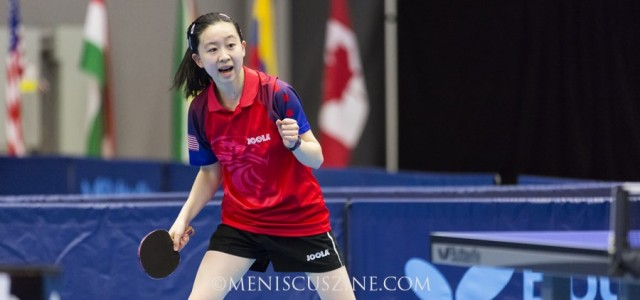Angela Guan won the 2015 Canadian Junior & Cadet Open junior girls' title, beating defending champion Prachi Jha, 11-7, 10-12, 12-14, 11-8, 12-10, 13-11.