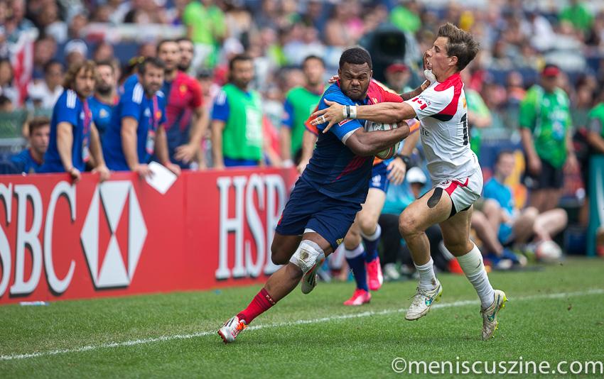 France 38, Canada 19, Hong Kong Sevens 2015 Bowl semifinals (photo by Christiaan Hart / Meniscus Magazine)
