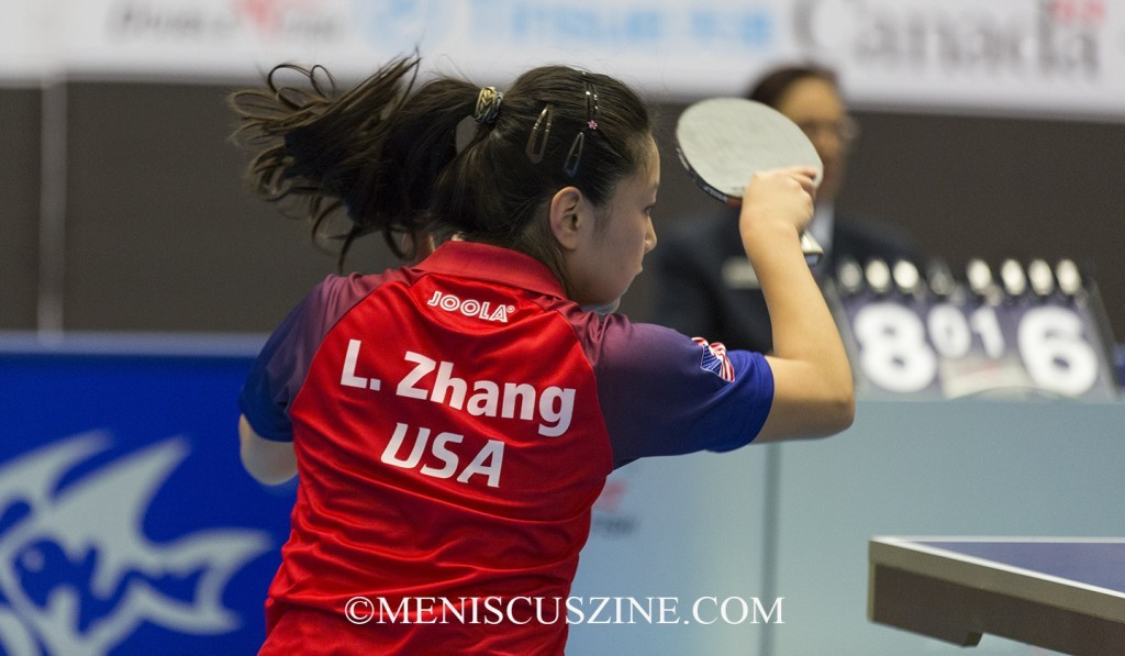 "Lily Zhang is also the subject of a table tennis documentary currently making the film festival rounds, ""Top Spin,"" which also featured fellow U.S. national champions Michael Landers and Ariel Hsing. (photo by Kwai Chan / Meniscus Magazine)"
