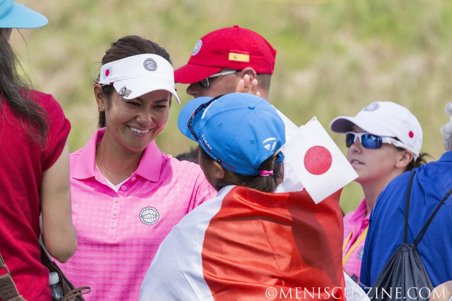 Ai Miyazato (left) was the No. 1 golfer in the world on several occasions in 2010.  She has nine LPGA Tour titles. (photo by Kwai Chan / Meniscus Magazine)