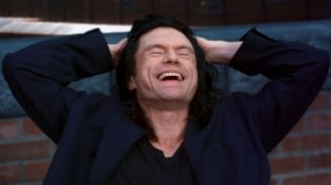 """What a story!"": Tommy Wiseau in ""The Room."" (photo courtesy of the Tribeca Film Festival)"