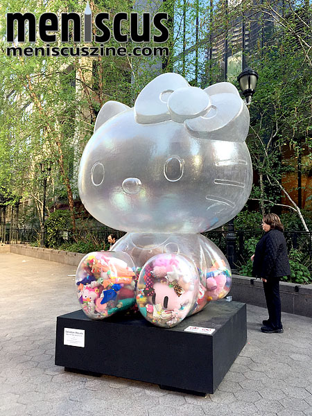 The sculpture will eventually make its way to Tokyo for the 2020 Olympics, joining other sculptures that were included in Sebastian Masuda's project, which launched in late 2014 at Art Basel Miami Beach. (photo by Megan Lee / Meniscus Magazine)