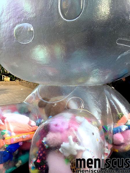 Sebastian Masuda's Hello Kitty time capsule is nine feet tall. (photo by Megan Lee / Meniscus Magazine)