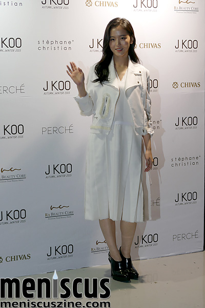 J KOO red carpet - Seoul Fashion Week Fall/Winter 2015 FW 2015 Fall 2015