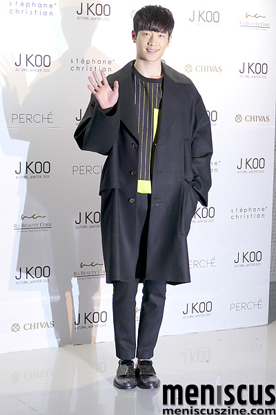 J KOO red carpet - Seoul Fashion Week Fall/Winter 2015 FW 2015 Fall 2015