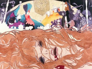 "A scene from Eiichi Yamamoto's 1973 film ""Belladonna of Sadness."" (still courtesy of Mushi Productions)"